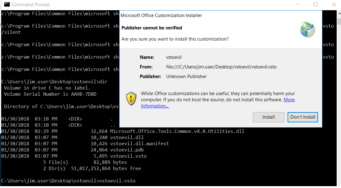 VSTO: The Payload Installer That Probably Defeats Your