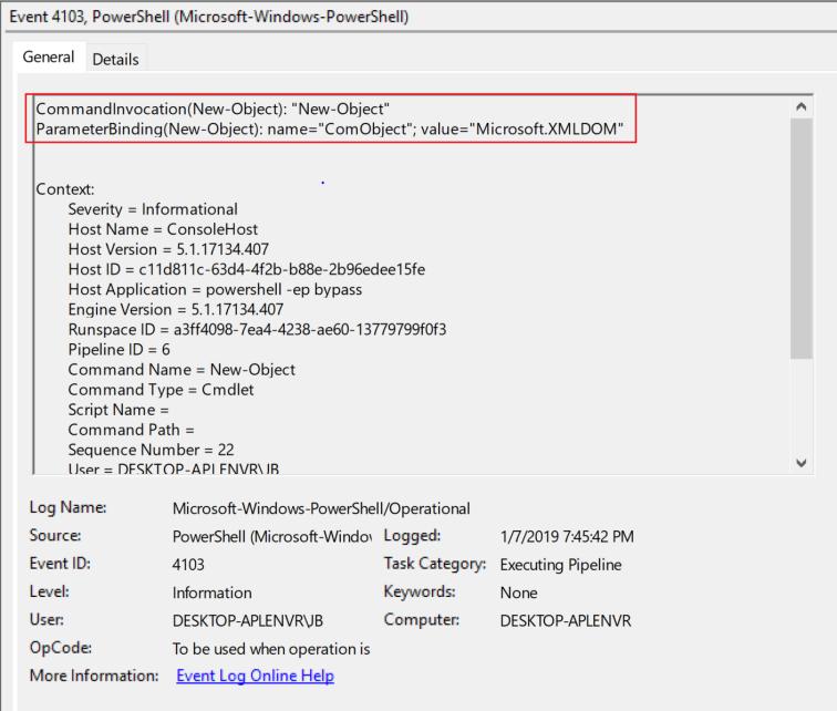 4103_module_log_executing_pipeline_comobject_microsoft.xmldom